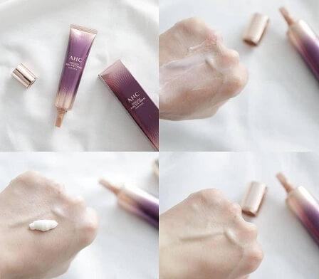 Cách sử dụng kem dưỡng mắt AHC Ageless Real Eye Cream For Face