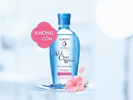 Nước tẩy trang Senka All Clear Water White cho da nhạy cảm