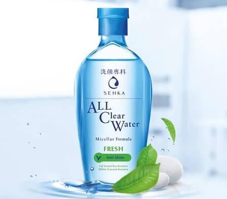 Nước tẩy trang Senka All Clear Water Fresh cho da dầu mụn