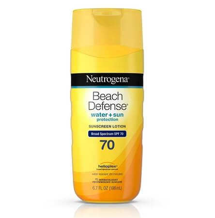 Kem chống nắng Neutrogena Beach Defense SPF 70 dành để đi biển