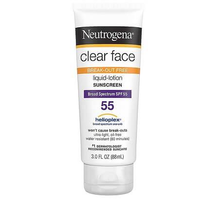 Kem chống nắng Neutrogena Clear Face SPF 55