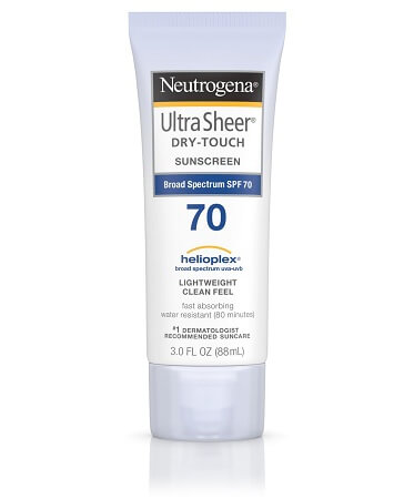 Kem chống nắng Neutrogena SPF 70 Ultra Sheer Dry Touch