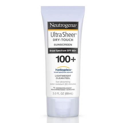 Kem chống nắng Neutrogena Spf 100+ Ultra Sheer Dry Touch