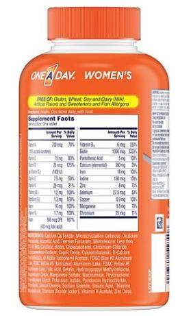 Công dụng Vitamin tổng hợp One A Day Women's Multivitamin: