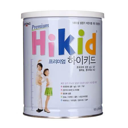 Thành phần sữa Hikid Hàn Quốc bao gồm