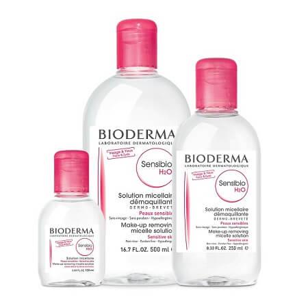 Nước tẩy trang Bioderma hồng (Bioderma Sensibio H2o)