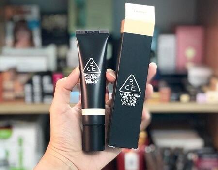 Cách sử dụng kem lót 3CE Skin Tone Control Primer