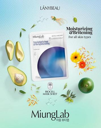 Mặt nạ Miung Lab Moisturizing & Brightening (Màu xanh)