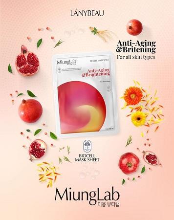Mặt nạ Miung Lab Anti-Aging & Brightening (Màu cam đỏ)