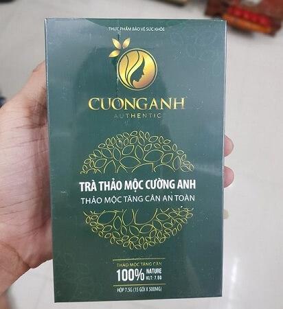 Cách sử dụng trà thảo mộc tăng cân Cường Anh