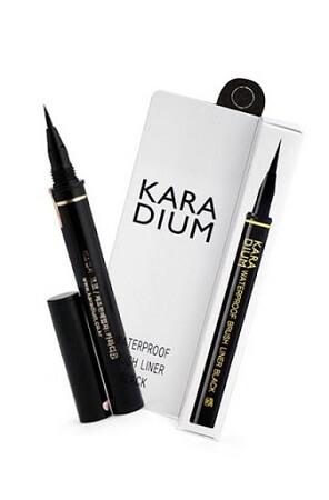 Kẻ Mắt Karadium Waterproof Brush Liner Black (Vỏ Trắng)
