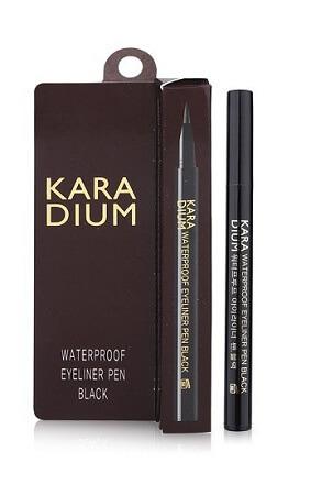 Bút Kẻ Mắt Karadium Waterproof Eyeliner Pen Black (Vỏ Đen)