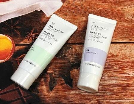 [Review] TOP 6 dòng Kem lót The Face Shop Air Cotton Makeup Base và ...?
