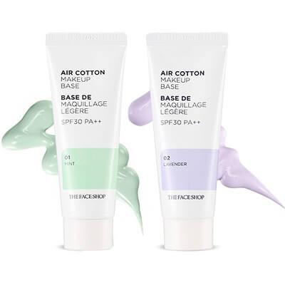 Kem lót The Face Shop Air Cotton Make Up Base
