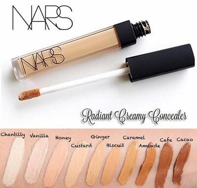 Bảng màu kem che khuyết điểm Nars Radiant Creamy Concealer