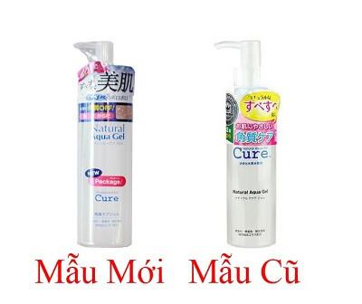 Bao bì Tẩy Da Chết Cure Natural Aqua Gel