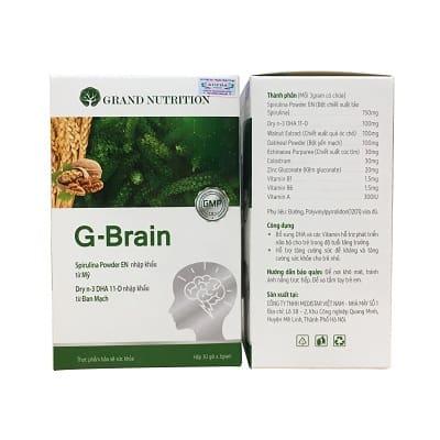 Thành Phần Cốm Trí Não G-brain