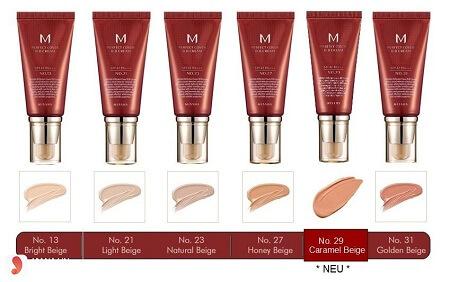Tone màu Kem Nền Missha M Perfect Cover Bb Cream Spf42/Pa++ 50ml