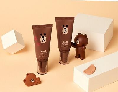 Kem nền Missha Perfect Cover BB Cream [Line Friends Edition – Gấu Brown] SPF42/PA+++