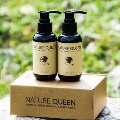 Thiết kế, bao bì dầu gội đầu Nature Queen