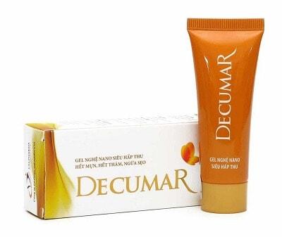 Công dụng của kem trị mụn Decumar