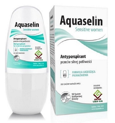 Lăn khử mùi Aquaselin Sensitive Women (xanh nhạt)