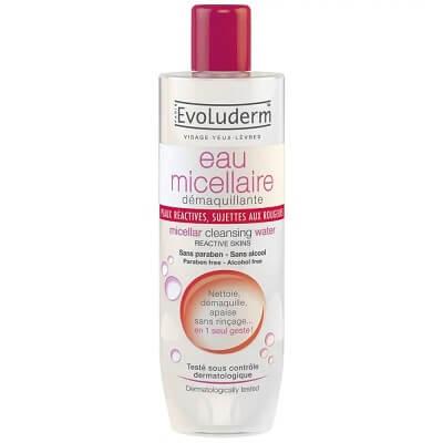 Nước tẩy trang Evoluderm đỏ Micellar Cleansing Water Reactive Skin (da nhạy cảm)