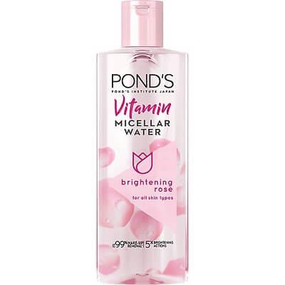 Nước tẩy trang Pond's Vitamin Micellar Water Brightening Rose (màu hồng)
