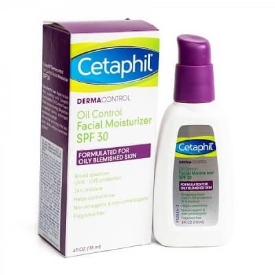 Kem chống nắng Cetaphil DermaControl Oil Control Facial Moisturizer SPF 30 dành cho da dầu