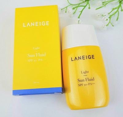 Công dụng Laneige Light Sun Fluid SPF50+ PA+++