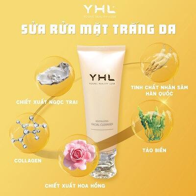 Thành phần sữa rửa mặt YHL Hàn Quốc
