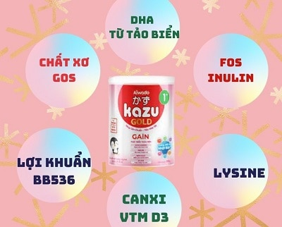Thành phần Sữa Kazu Gain Gold Nhật